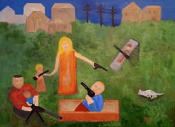 Playground, USA   oil on canvas