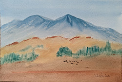 Mount Sopris  watercolor on paper