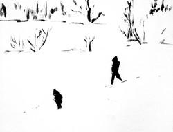 Yukiguni----Snow Country I   oil on canvas