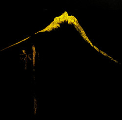 Mountain Spirit XXXV  iridescent gold in