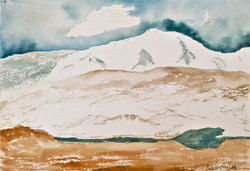Altai Mountains,  Mongolia  watercolor o