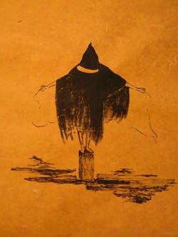 Abu Ghraib  ink on rice paper