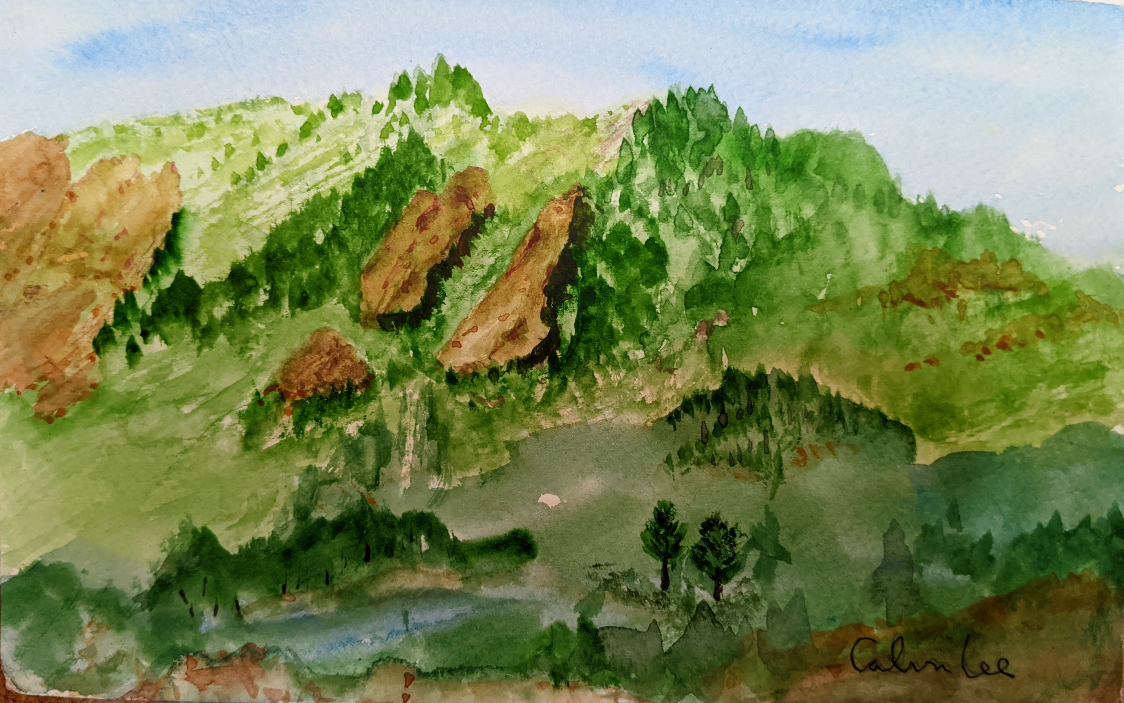 Flatirons  watercolor on paper