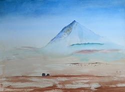 Hay Wagon Mount Sopris  watercolor on pa