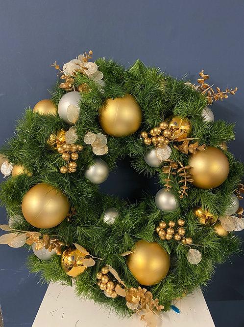 Majestic - Royal Gold Christmas Wreath