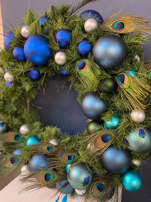 Peacock Blue Large - Limited Edition Christmas Wreath