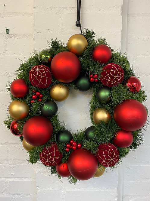Festive Red Christmas Wreath