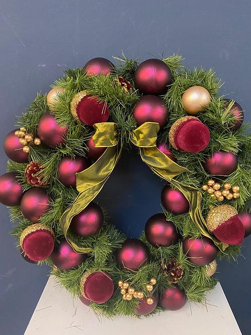 Burgundy & Berry - Small Christmas Wreath