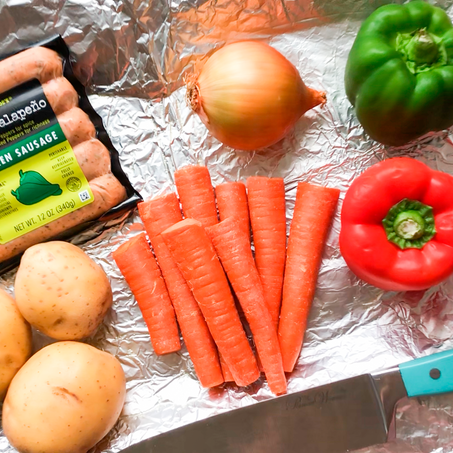 Delicious Grilled Veggies & Sausage