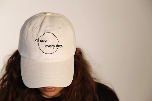 All Day Every Day Dad Hat (White)