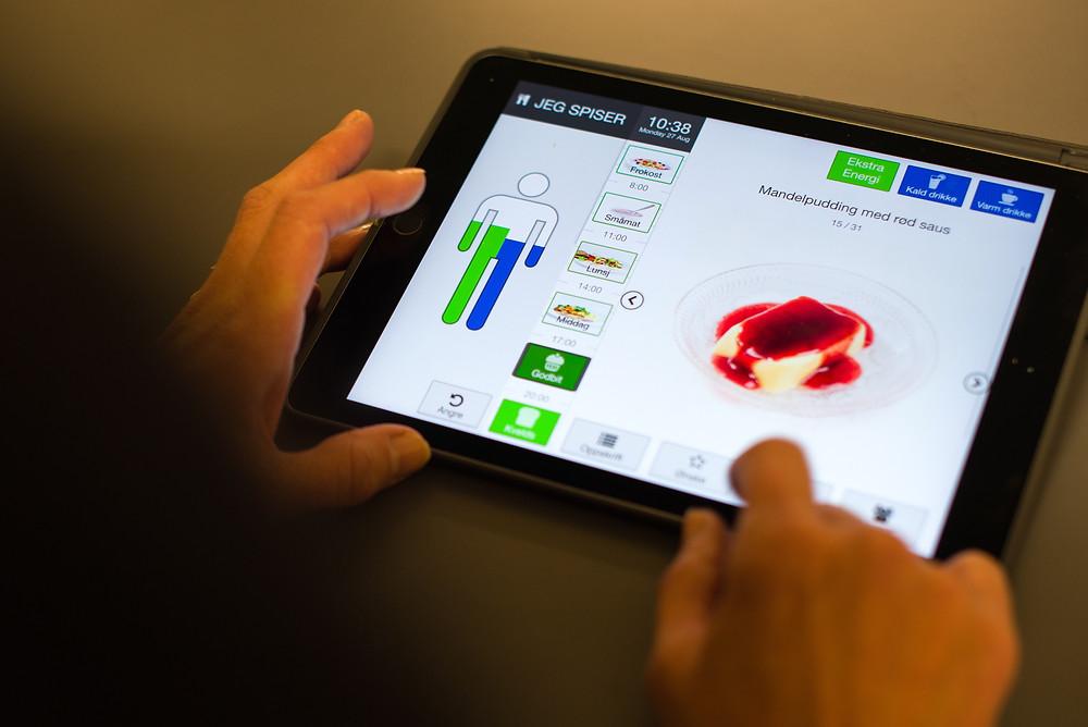Kostholdsappen appetitus er utviklet for å fremme matlyst hos eldre og forebygge undernæring. Foto: Øystein Horgmo, UiO