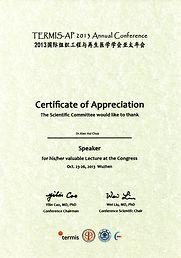 Certificate of Appreciation - Termis-AP