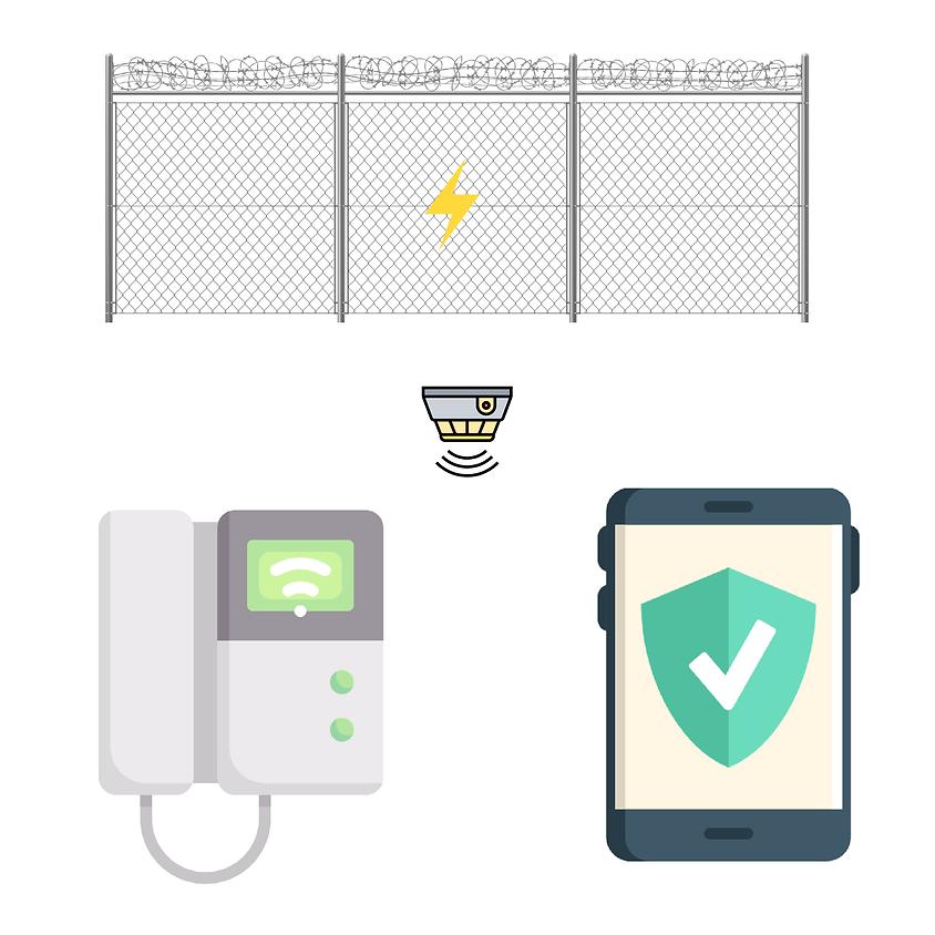 Alarme e cerca elétrica monitorada por aplicativos