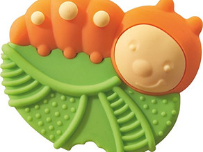 Elizabeth's Best - HABA Silicone Teether and Clutching Toy Caterpillar