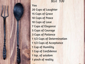 A Recipe For Being Your Best Ever You