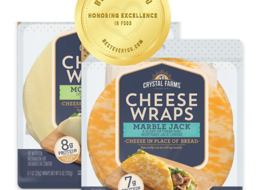 Crystal Farms Cheese Wraps - Gold Seal of Excellence in Food