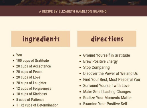 A Recipe to Be Your Best Ever You