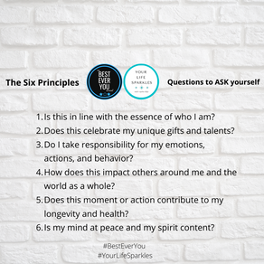 Best Ever You - Six Questions to Ask Yourself
