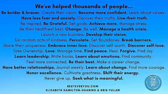 We've helped people..._Be bolder & brave