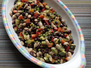 Black and White Bean Primavera Salad