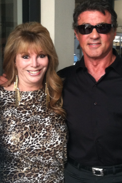 Jackie Kallen and Sylvester Stallone
