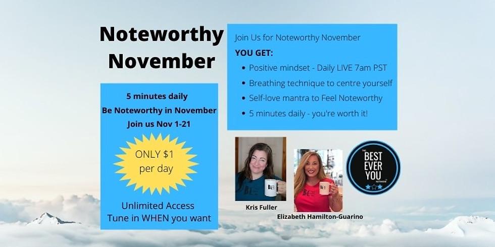 Noteworthy November