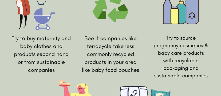 Recycling and eco-conscious pregnancy and early parenthood.