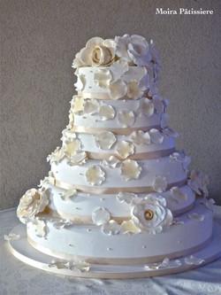 Torta de casamiento con rosas