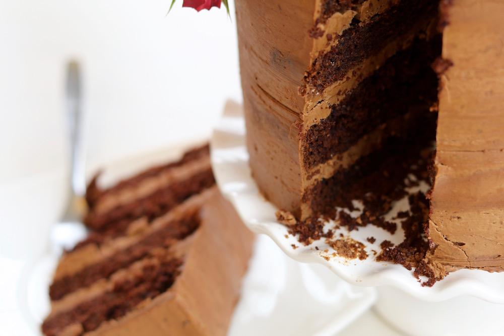 Torta de casamiento de chocolate