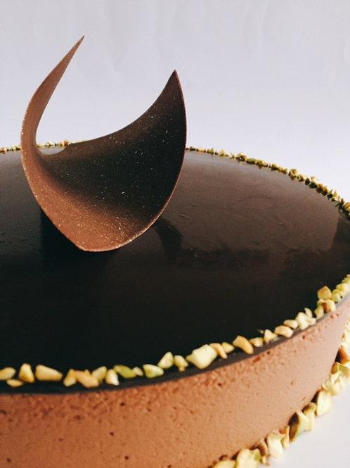 Torta Mousse de chocolate y café