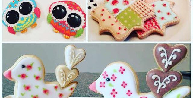 ABC Cookies Decoradas, Owl , Patchwork & Lovely Birds 3 D