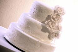 Torta de casamiento con rosas notting hill