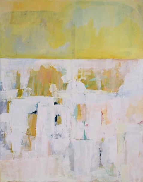 akryl på lærred, 100 x 80 cm