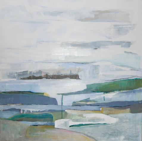 akryl på lærred, 80 x 80 cm
