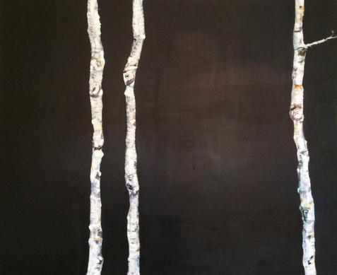 akryl på lærred, 120 x 100 cm