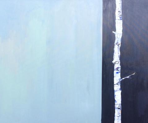 akryl på lærred, 100 x 120 cm