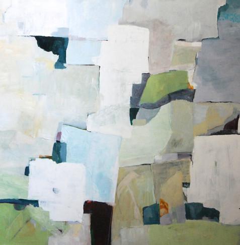 akryl på lærred, 100 x 100 cm