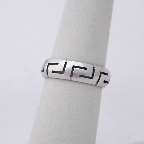 GREEK KEY DESIGN MEANDROS 14ck  WHITE  GOLD Ring