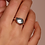 Thumbnail: Ti Sento Ring crafted in Silver rhodium plated with watery blue facetted stone