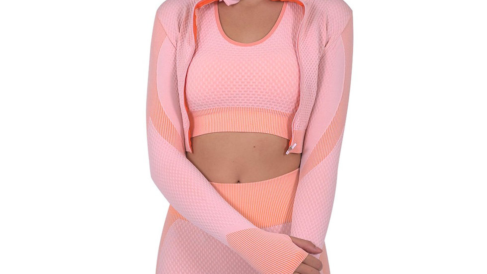 Trois Seamless Sports Jacket - Pink