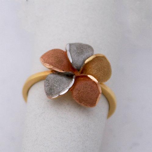 GOLD RING 14CK Gold FLOWER DESIGN,WHITE,YELLOW&ROSE Gold