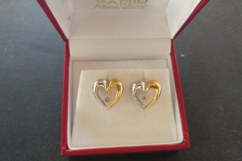LOURDAS HEART STERLING SILVER  EARRINGS