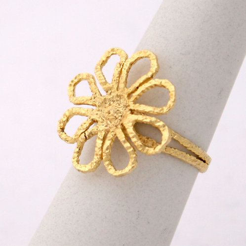 GOLD RING FLOWER DESIGN  14CK Gold