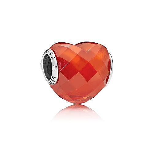 Pandora Orange Shape of Love Charm
