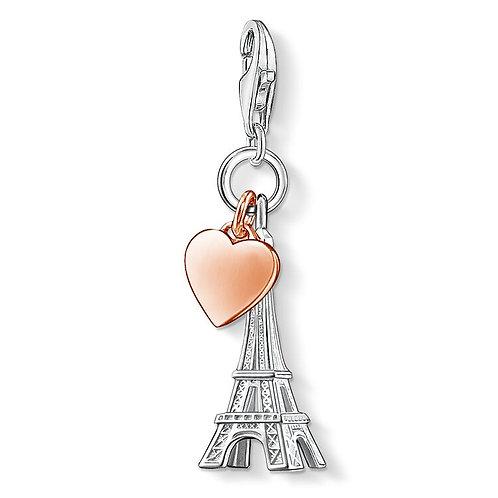 Thomas Sabo Charm Pendant Eiffel Tower with heart