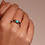 Thumbnail: Ti Sento Ring  Silver rhodium plated with turquoise round  playful stone
