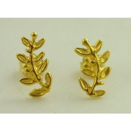 Olive Branch Earrings 14ck Gold