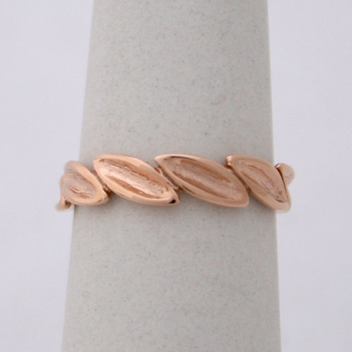 HANDMADE 14ct ROSE GOLD OLIVE BRANCH RING