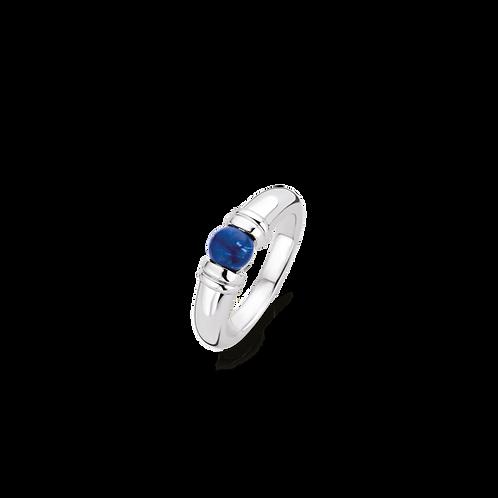 Ti Sento Ring with  lapis style dark blue centrepiece Playful Stone