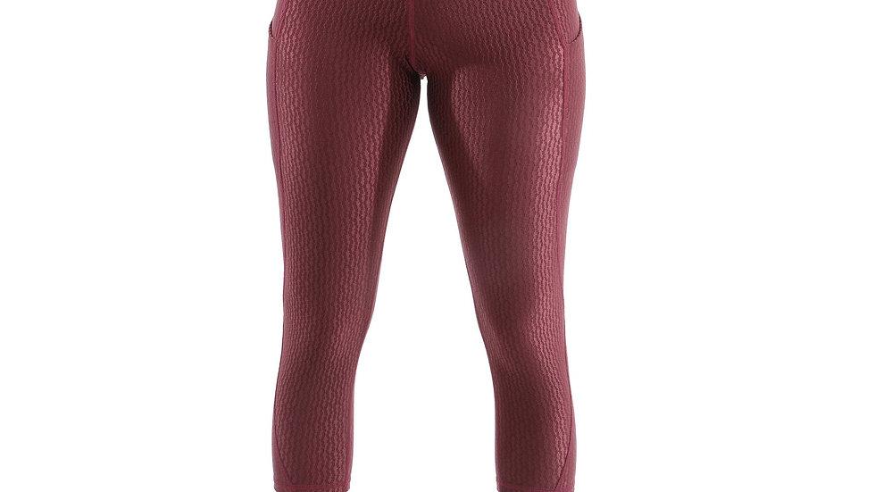 Verona Activewear Capri Leggings - Maroon [MADE IN ITALY]